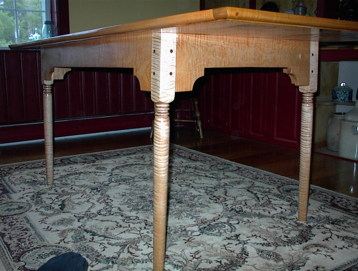 Tiger Maple Kitchen Table