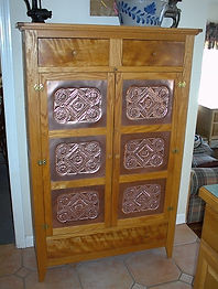 Hand Punched Copper Panel Pie Safe