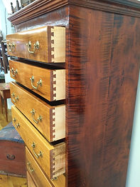 Tiger Maple & Cherry Chest of Drawers