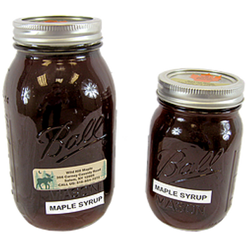 Maple Syrup Mason Jars Pint Wild Hill Maple