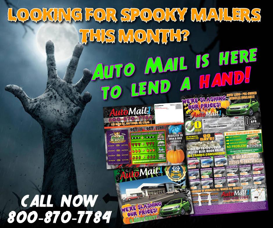 Halloween Mailers ad