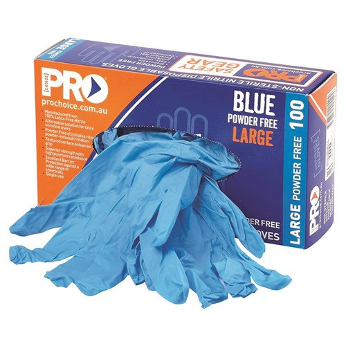 Pro Choice Safety Gear Disposable Black Nitrile Powder Free Gloves