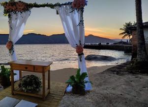 Casamento na praia do sítio CAD