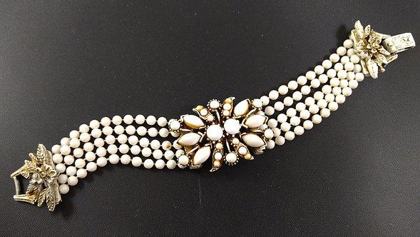 Florenza Bracelet Antiqued French White Finish