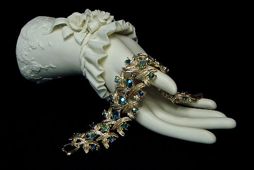 Coro Blue Green Aurora Borealis Bracelet - j157093