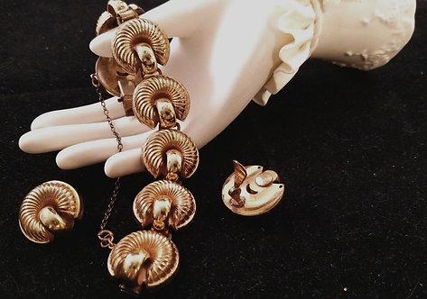 monet sterling bracelet and earring set