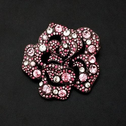 Kenneth Lane KJL Pink Cabbage Rose Pin
