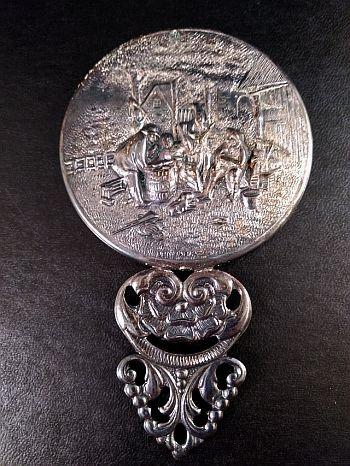 Ornate Denmark Hand Mirror