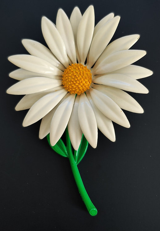 1960's Flower Power LARGE Daisy Pin