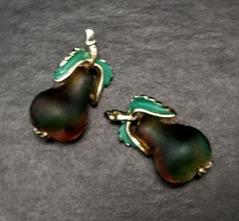 Austrian Glass Pear Scatter Pins