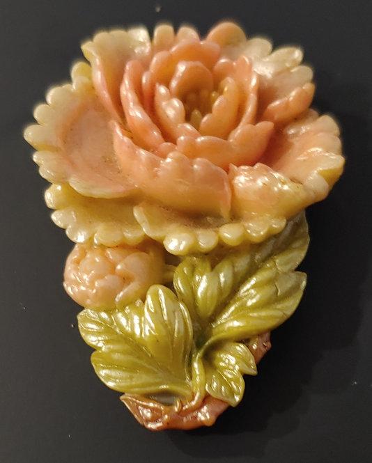 Celluloid Flower Dress Clip
