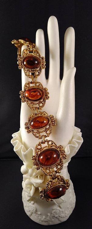 Simulated amber lucite bracelet