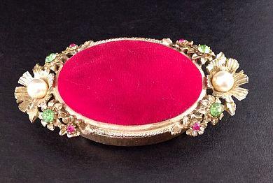 Florenza Jeweled Pin Cushion Trinket Box