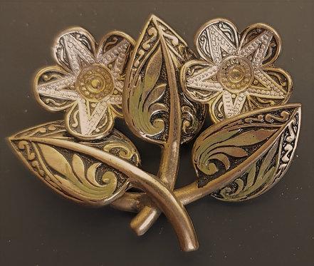 Damascene Spain Double Flower Pin
