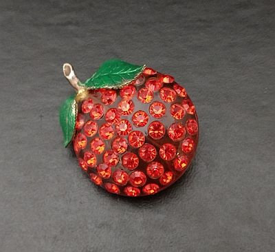 Forbidden Fruit Lucite Orange Pin