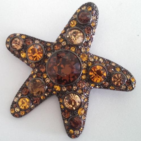 Kenneth Lane KJL Starfish Pin Brooch