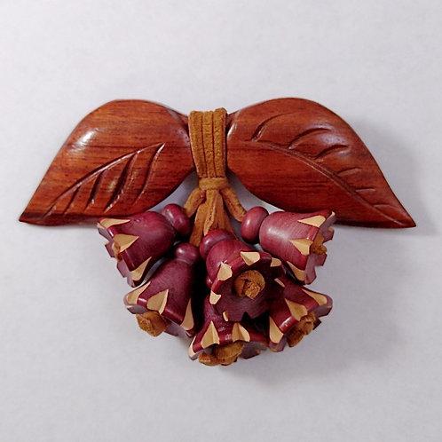 Wood & Leather Czech Pin