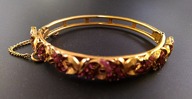 Florenza Pink and Amethyst Bangle Bracelet