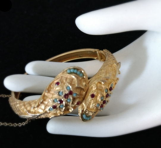 Victorian Revival Snake Bracelet - j3i54