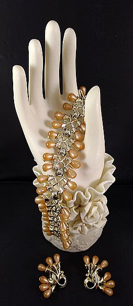 CHAREL Lucite Bracelet and Earring Set