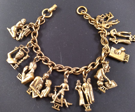Coro Ten Commandments Charm Bracelet