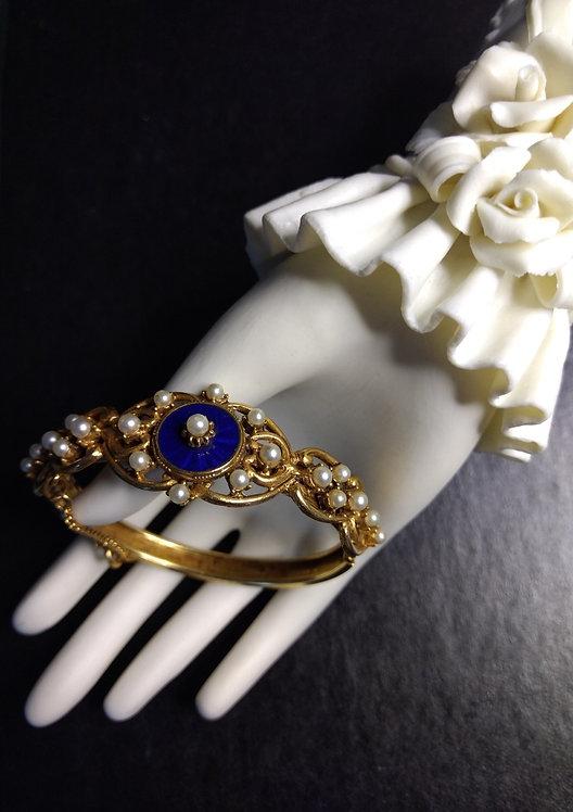Florenza Cloisonette Bangle Bracelet - j259073