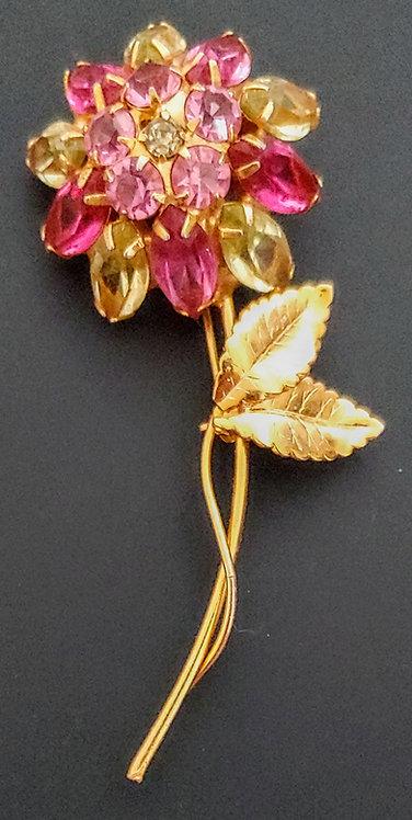 Rhinestone Flower Pin