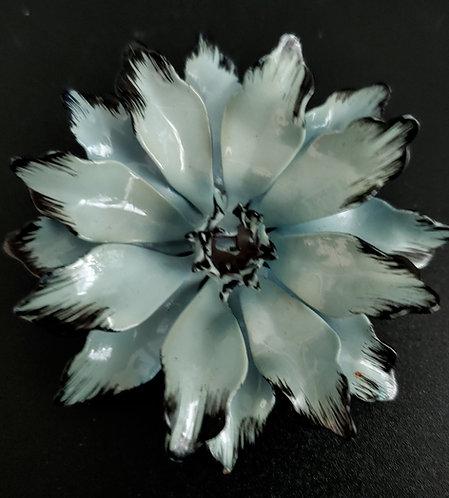 1960's Blue Enamel Flower Power Pin