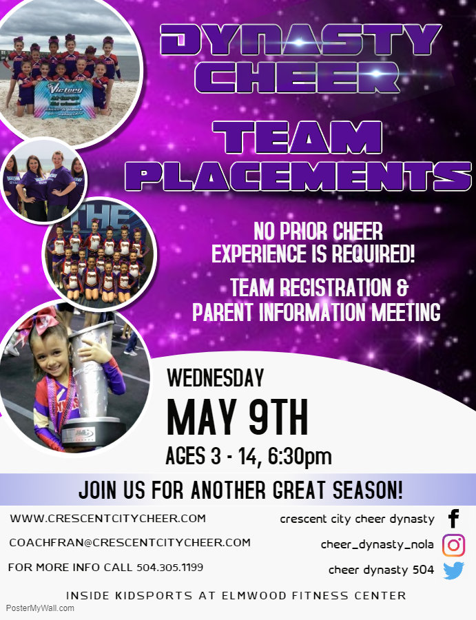 Dynasty Cheer Team Placements