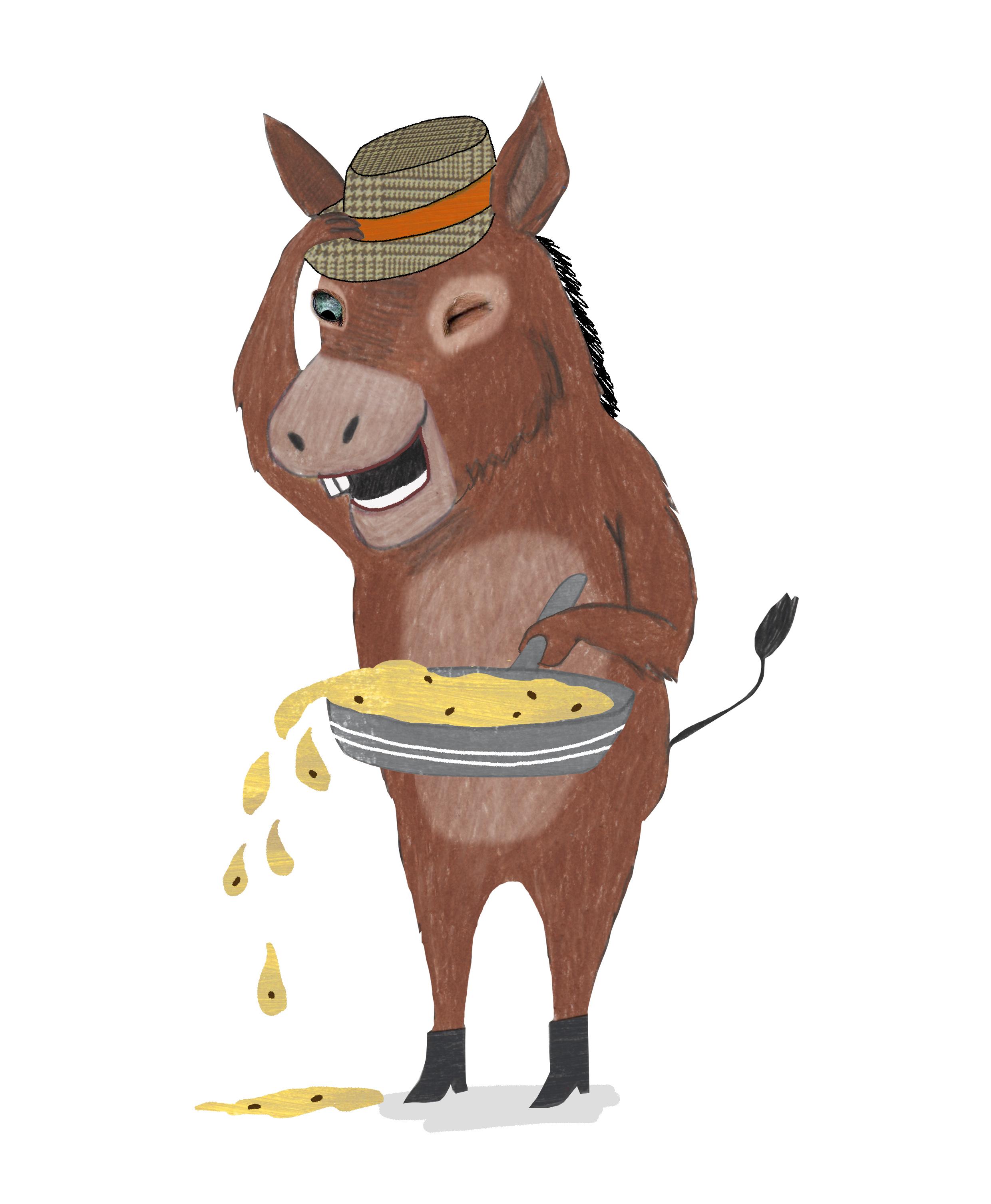 een ezel met een hoed is altijd goed