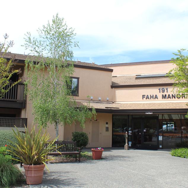 Front door of FAHA Manor