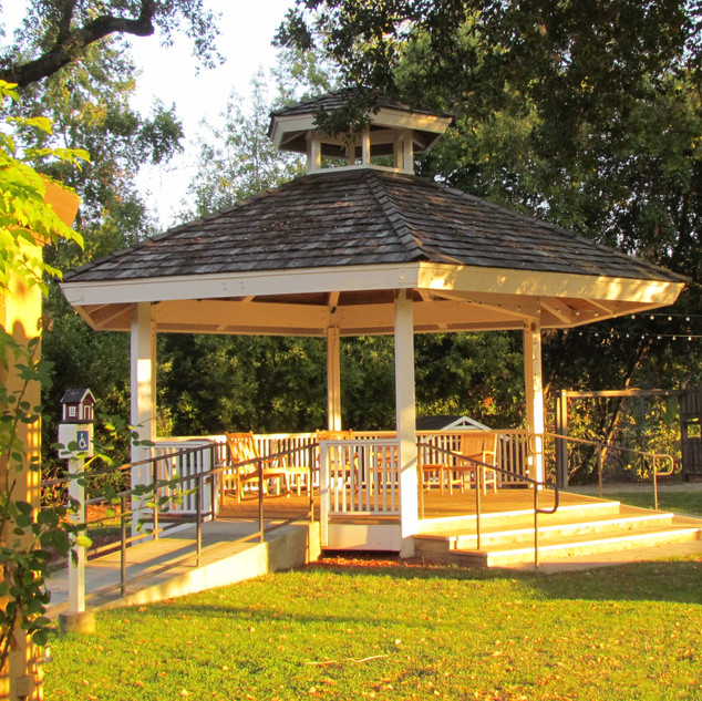 FAHA Manor gazebo for gatherings, celebrating or singing
