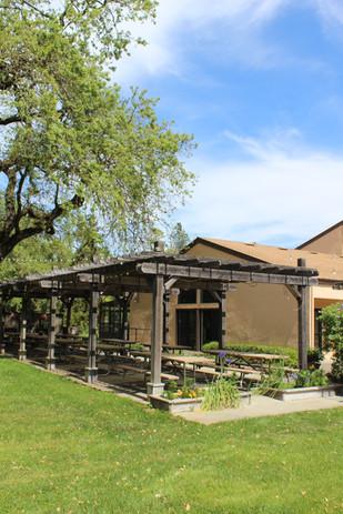 FAHA Manor picnic and BBQ area