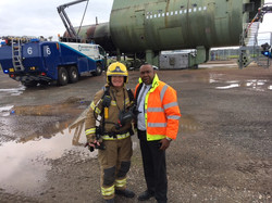 Our Sales Director Colin having a day with Birmingham Airports Fire and Rescue Teams