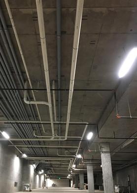PVC runs under a PT deck