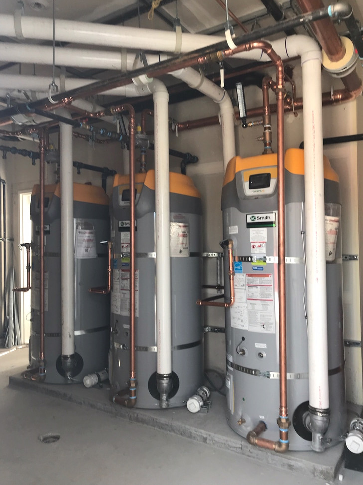 Typical boiler room installation