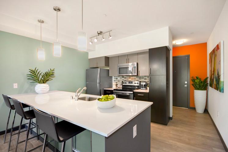 Typical apartment kitchen