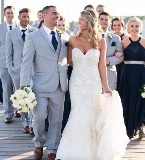 Norfolk Yacht Club wedding party