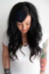 Invisible band halo hair extensions by East Beach Hair Co. in But First, Coffee