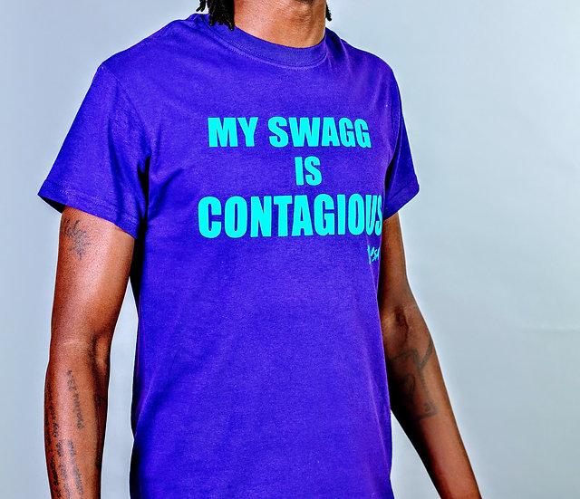 "DOSA®✝️ ""Contagious Swagg"" Slogan Tee"