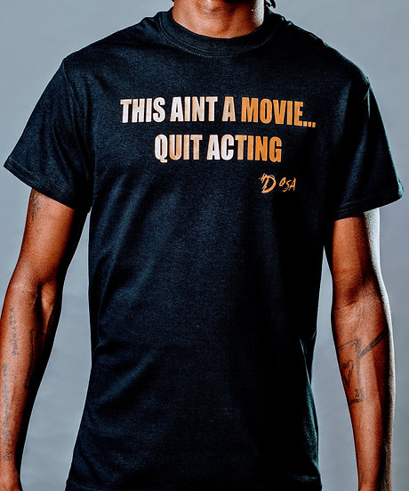 """DOSA®✝️ """"No Movie"""" Slogan Tee"""