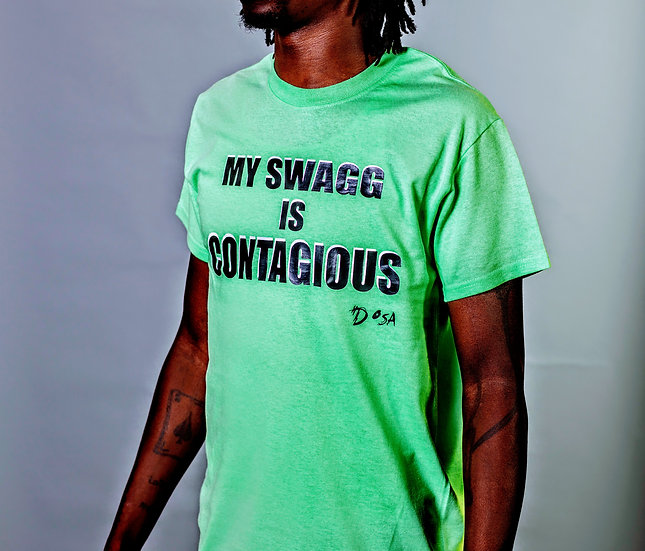 "DOSA®✝️ ""Contagious Swagg"" Slogan Tee"