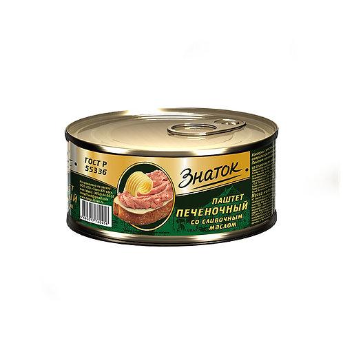 """Паштет печеночный со сливочным маслом """"Знаток"""" 100гр ж/б"""