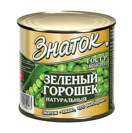 """Зеленый горошек """"Знаток"""" 400г ж/б, шт"""