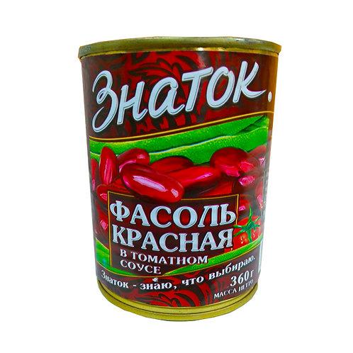 """Фасоль красная """"Знаток"""" 360 гр ж\б"""