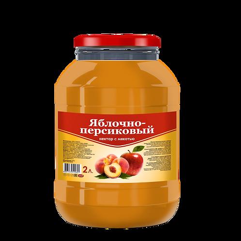 """Некатар """"САВА"""" яблочно-персиковый 2 литра"""