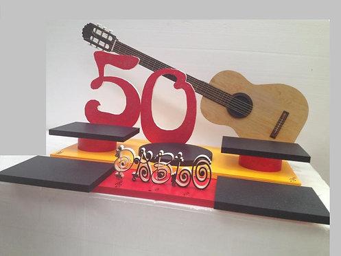 REF.409 Base 5 tartas guitarra con nombre y edad
