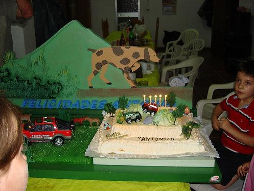 REF.412 Base tarta safari con nombre