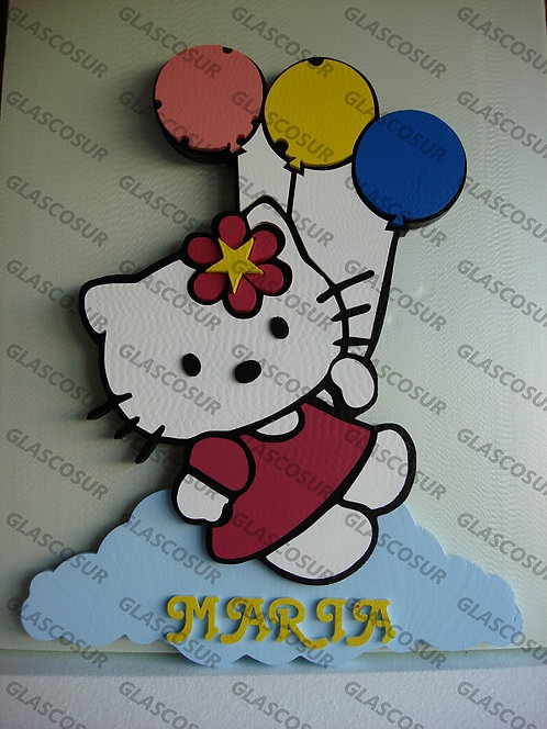 REF.905 Nombres para la pared Hello Kitty