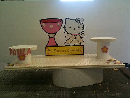 REF.318 Base para 2 tartas Hello Kitty con nombre